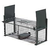 Moorland Safe 5006 Trampa para animales vivos - Ratas Conejos Gatos 50x18x18cm - 2 Entradas -...