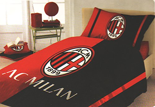 Milan 6391 673 P501 Completo Letto Una Piazza, Cotone, Rosso, Singolo, 30x40x10 cm