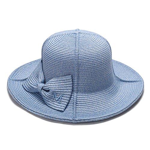 L'été Le Mélange D'un Chapeau De Soleil Chapeaux Tricotés Pliage Chapellerie Chapeau De Voyage En Plein Air blue