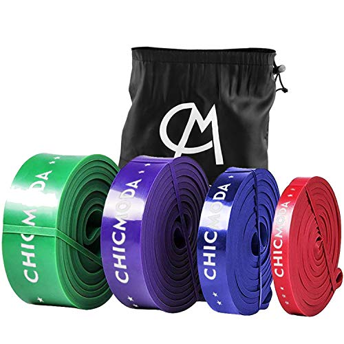 CHICMODA Pull Up Assist Band Fitnessbänder Trainingsbänder, Widerstand Übung Bands für Powerlifting-Unterstützung, Stretch-Mobilität, Training, Fitness, Krafttraining, Blau