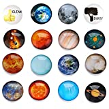 HXDZFX Planetary Fridge Magnets Solar System -14 PCS Refrigerator Magnets With 2PCS Clean Dirty Dishwasher Magnet,Office Magnets,Calendar Magnet,Whiteboard Magnets,Perfect Decorative Magnet