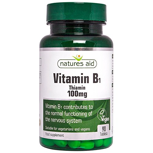 Natures Aid Vitamin B1 Thiamin Hydrochloride 100mg - Pack of 90 Tablets Test
