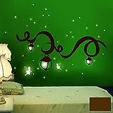 Wandtattoo Wandaufkleber Wandsticker Wanddeko Elfentraum Elfen Feen fluoreszierend M940 ausgewählte Farbe: *schokobraun* ausgewählte Größe: *M*