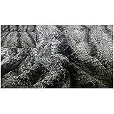 Fabrics de City gris/negro/blanco Italiano Manta Pelo pelo Deluxe Croco plástico, 3628