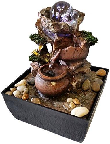 Fontana zen feng shui in poliresina vasetti led sfera for Fontana zen