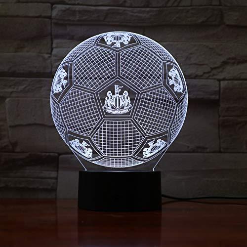 Yangll FC Tottenham Hotspur 3D Illusion LED Veilleuse Garçons Enfants Bébé Cadeaux De Football Soccer Premier League Football Table Lampe De Chevet