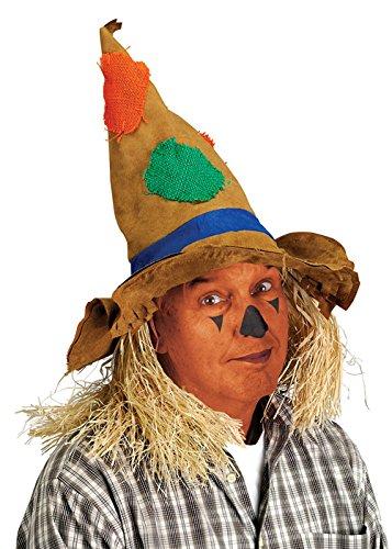 Deluxe Scarecrow Hut mit Stroh (Adult Deluxe Scarecrow Kostüm)