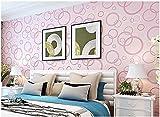 Yosot 3D Stereoskopische Einfache Moderne Fernseher Hintergrund Tapete Zimmer Zimmer Zimmer Zimmer Buchen Vlies Tapete Light Pink