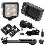 Canon Powershot SX20 IS Digital Camera Lighting 5600K Color Temperature 72 LED Array Lamp - Digital Photo & Video LED Light Kit