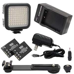 Lampe de Vidéo Panneau de lumière pour caméscope Toshiba CAMILEO Clip Camcorder 5600K Farbtemperatur, 72 LED-Array-Lampe - Digital Photo & Video LED Light Kit