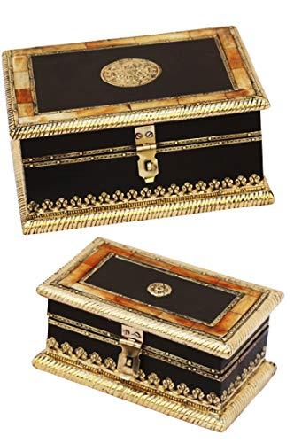 2er SET Orientalische kleine Aufbewahrungsbox mit Deckel Babuna 22cm groß | Orientalischer...