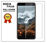 V CAN™ Premium Full Screen Coverage Screen Protector Tempered Glass 3D Anti-Fingerprint 0.33 mm HD+ View Crystal Clear Tempered Glass for Nokia 7 Plus - (Transparent)