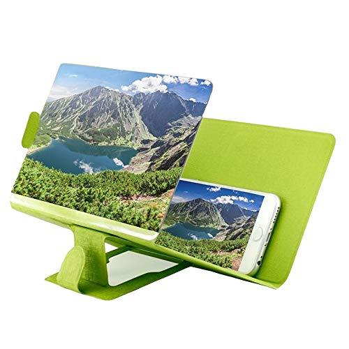 Bildschirm-Vergrößerungsglas-Film-Verstärker des HD-3D, Telefon-Film-Video-Strahlenschutzvergrößerungsbildschirm (Farbe : Green)