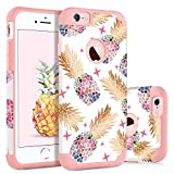 BENTOBEN Funda iPhone 6s Plus, Funda iPhone 6 Plus, Ultra Delgada Carcasa Case Cover Piña Cominada PC y TPU Silicona Brillante Estrella Antigolpe Fundas para iPhone 6 Plus / 6s Plus, 5.5'- Oro Rosa