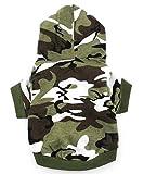 smalllee _ LUCKY _store chemise à chien à capuche de petits vêtements pour chien à capuche pour garçon Motif camouflage pour homme, vert M