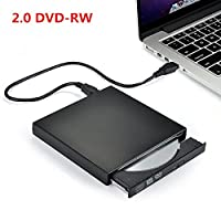 External CD/DVD Burner USB 2.0 CD/ DVD RW Re writer SuperDrive for Notebook/ PC with Windows & Mac OS System for Apple Macbook Lenovo Acer Asus