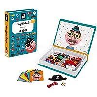 Janod - Magneti'Book Crazy Faces juguete educativo, Niños (J02716)