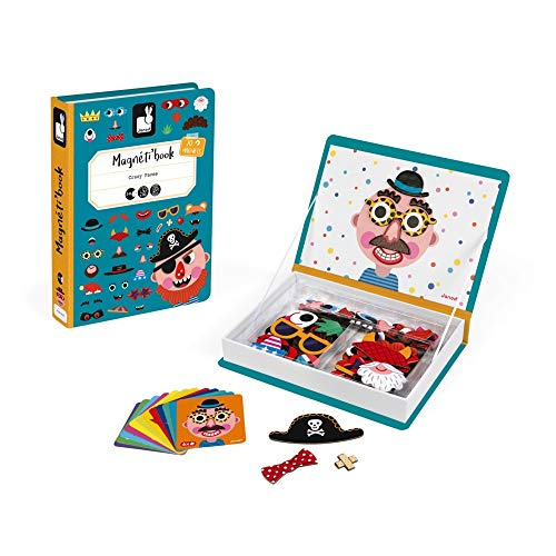 Janod - J02716 - Magneti'Book Crazy Faces - Garcon