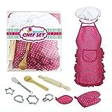 XuBa Kinder Küche Kochen Spielzeug umweltfreundliche Utensilien Küche Zubehör Set Geburtstag Halloween Weihnachten Party Geschenk Rose