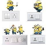 #4: Wall Sticker (Light Switchs 'Minions' Sticker) - Set of 4