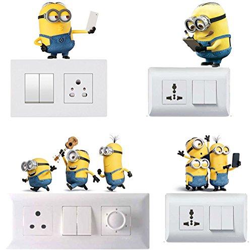 Wall Sticker (Light Switchs 'Minions' Sticker) - Set of 4