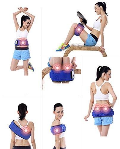 Foto de Vinteky® Cinturón reductor de cintura, Quemador de grasa abdominal, Cinturón tonificador, Cinturón reducto puntual, Cinturón Abdominal de Sudoración con Puntos Sobresalientes, Multifuncional para los ejercicios de Cintura/Abdomen/Pantorrilla, Ideal para q