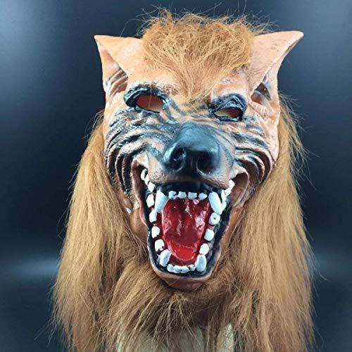 Kostüm Tanz Tier Themen - Xiao-masken Maske Maskerade Abschlussball Maske Halloween Maske Horror Teufel Make-up Tanz Requisiten Komplettset Kopf Yellow Wolf Head