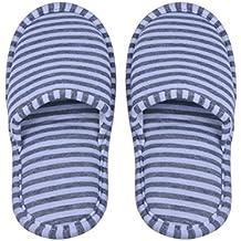 1par Zapatillas Plegables Antideslizantes con Bolsa de Almacenamiento para Viaje Casa Hotel Vuelo Indoor Exterior Talla 34-42EU ( Color : Gray Stripes for Women )