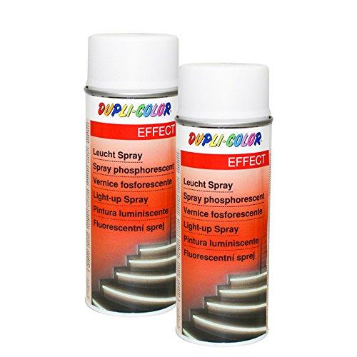Preisvergleich Produktbild 2X DUPLI-Color LEUCHTSPRAY Metall Holz HARTKUNSTSTOFF Karton Wände EFFEKTLACK 400ML