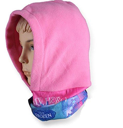 *exclusiv disney frozen bonnet hiver en polaire pilot bonnet - rose