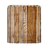 GD-designs Duschvorhang Mauer Anti-Schimmel Badvorhang Badezimmer Vorhänge Dekorativer Duschvorhang Liner mitHaken Polyester Wasserdicht Maschinenwaschbar 180x180cm