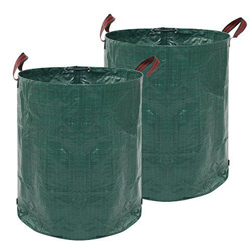 JNEGlo Garden Waste Bags - Includes 2 Large Heavy Duty