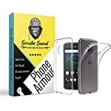 Gorilla Guard™s Clear Soft TPU Case Protector Cover For Motorola G5s+ Plus Made Of Soft Silicon Gel With Shock Absorbtion Bumper Fitting, Light Weight, Scratch Proof & Slim Fit Case Cover