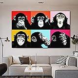 tzxdbh AFFE Gorilla Tier Poster leinwand malerei wohnkultur wandkunst Bild für Wohnzimmer Kinder kinderzimmer Schlafzimmer 30x45 cm