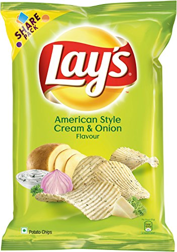 Lay's Potato Chips American Style Cream and Onion Flavour Pack, 95g