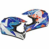 Shox MX-1 Paradox Enduro Motocross Helm XL Blau Orange