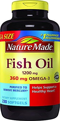 Naturaleza hecha - Omega-3 aceite de pescado 1200 mg. - 230Cápsulas líquidas