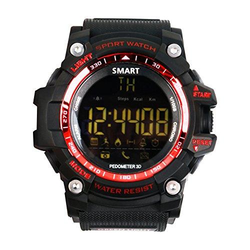 atch, Bluetooth 4.0 Digitale Smart Watch Wasserdichte Sport Intelligente Uhr Unterstützung Android 4.3 und ios 7.0 (rot) (Halloween-übung Ideen)