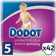 Dodot Pañales Protection Plus Activity, Talla 5, para Bebes de 11-16 kg - 42 Pañales