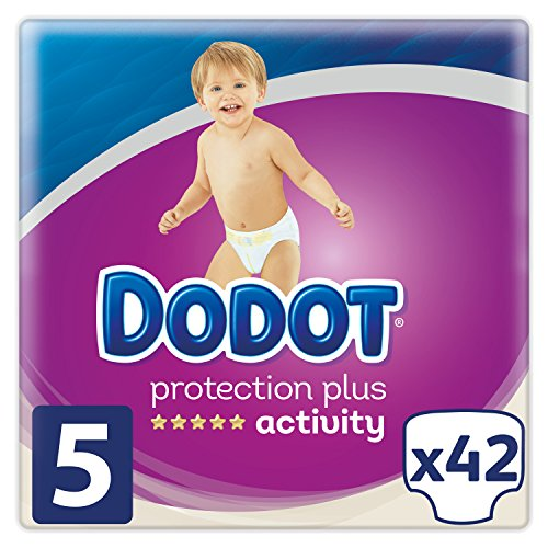 Dodot Pañales Protection Plus Activity, Talla 5, para Bebes de 11-16 kg - 42 Pañales
