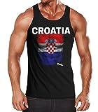 MoonWorks EM Tanktop Herren Fußball Kroatien Croatia Flagge Fanshirt...