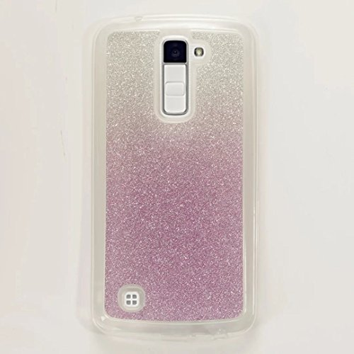 51jOcquRI2L UK BEST BUY #1MUTOUREN for LG K10 Case Bling Glitter TPU Silicone Ultra Thin Soft Gel Case with Gradient Color Pattern Anti scratch Protective Bumper Shell Purple price Reviews uk
