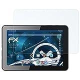 atFolix Schutzfolie kompatibel mit bq Edison 3 WiFi/3G Panzerfolie, ultraklare & stoßdämpfende FX Folie (2X)