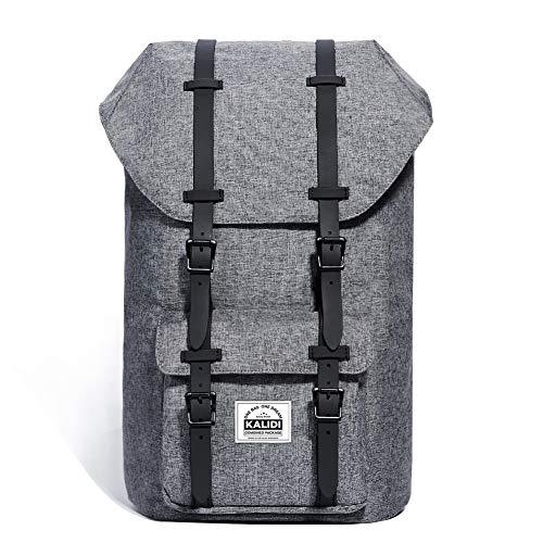 KALIDI 17 Zoll Laptop Rucksack Backpack Schulrucksack für bis zu 15.6 Zoll Laptop Notebook Computer Arbeit Campus Studenten Outdoor Reisen Wandern mit Großer Kapazität (Dunkelgrau) (Nagellack Case Handy)