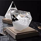 Pawaca Storm Glass, Creative Stylish Diamond Shape Weather Forecaster Barometer Crystal Home Office Decoration Birthday Christmas Gift
