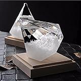 Pawaca Storm Glass, Creative Stylish Diamond Shape Weather Forecaster Barometer Crystal Home Office Decoration Birthday Christmas Gift