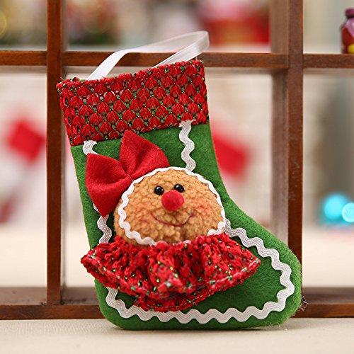 kicode Weihnachten Santa Socke Cute Lebkuchenmann Ornament Party Xmas Tree Dekoration zum Aufhängen (Baby Kd Schuhe)