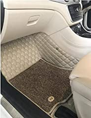 CARMATE Luxury 7D Car Foot Mats Custom Fitted Car Floor Mats for Maruti Ertiga - Camel