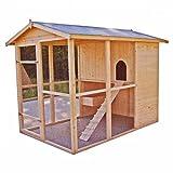 Hühnerstall, groß, für 6-10 Hühner, Bitumendach, keine Montage erforderlich