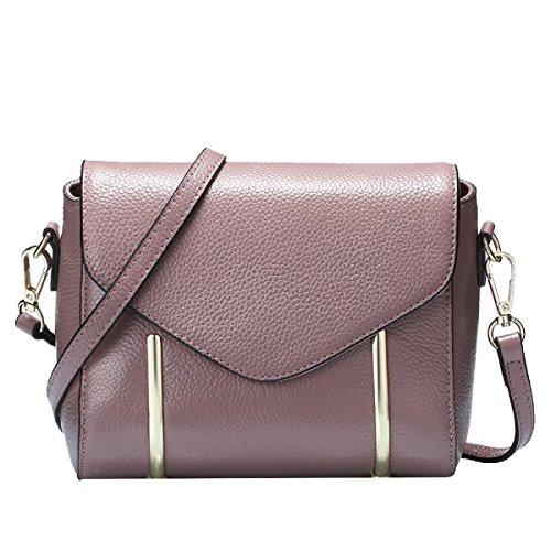 Yy.f Nuovo Sacchetto Di Spalla Borse Di Pelle Goffrata Sacchetti Del Messaggero Primo Strato Di Cuoio Multicolore Purple